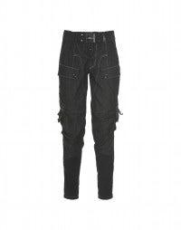 CRITTER: Jersey jodhpur panel jeans