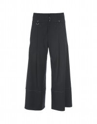 JOLLY: Dark blue virgin wool tailored culottes