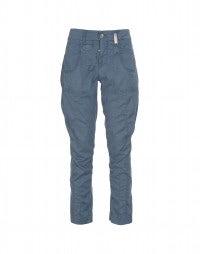 SCARPER: Ocean blue slim leg pants