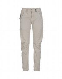 HAVOC: Pale beige curved seam pants