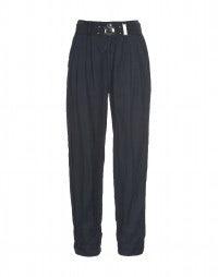 LANCER: Blue cupro pleated pants