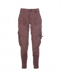 BRAVERY: Pale burgundy relaxed jodhpur pants
