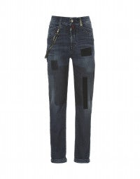 CADET: Patchwork cadet straight leg jeans
