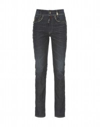 ASBY: Washed, straight leg stretch jeans