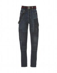 INDIE: Jeans a vita alta con toppe frontali