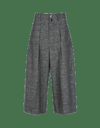 PARADE: Pantaloni ampi alla caviglia in tessuto quadrettato con lurex