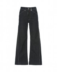 CAPTAIN: Resin wash flared jeans