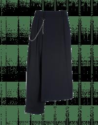 CONCEIT: Pantaloni asimmetrici in lana blu navy stretch