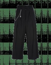 HEYDAY: Pantaloni ampi alla caviglia in twill nero