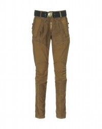 RUNAWAY: Caramel cotton and cord skinny pants