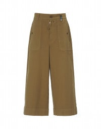 BELLBOY: Caramel colour cropped wide flares