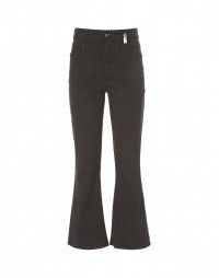 BEATNIK: Mulberry cropped bootleg pants
