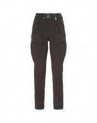 GEOMETRY: Pantaloni in tela di cotone borgogna