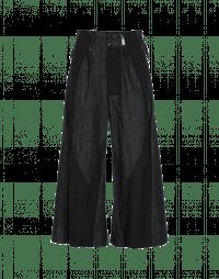 TANGRAM: Pantaloni in denim nero stretch e lana