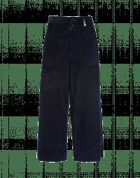 BELL-BOY: Pantaloni a culottes ampi in velluto a coste blu navy