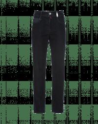 INTRIGUE: Jeans con velluto flock frontale e denim