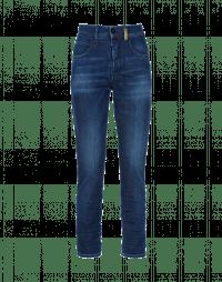 OUR-GIRLS: Slim leg, in-waist blue jeans