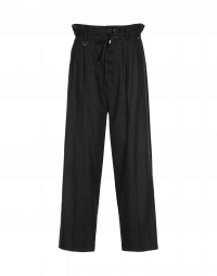 RATIO: Dark grey button front pant with drawstring