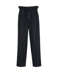 RATIO: Pantalone blu navy con cordino arricciabile