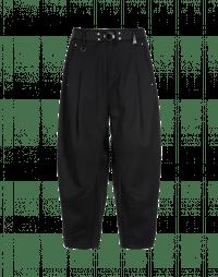BRIGAND: Pantaloni ampi dalla linea curva neri