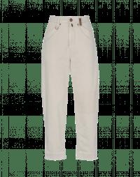 PITCH UP: Jeans in cotone e lino beige chiaro