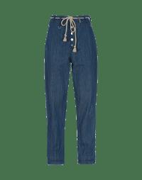 CIRCUIT: Jeans affusolati con cintura in corda