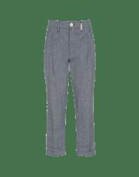 COURAGE: Pantaloni blu e grigi con pieghe
