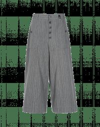 BELL-BOY: Pantaloni a culottes grigio chiaro con rigatura scura