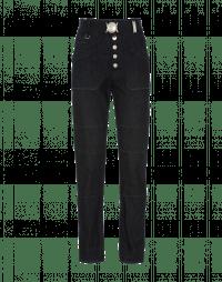 FORTHRIGHT: Multi-seam dark blue jeans