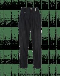 COURAGE: Pantaloni in denim blu scuro con pieghe