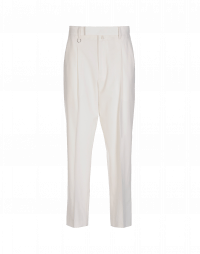 BRISK: Pantaloni dritti in lana vergine color crema