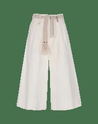 ADEPT: Pantaloni ampi color crema