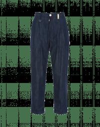 COURAGE: Pantaloni in denim blu medio con pieghe