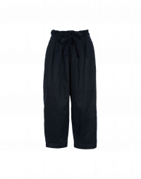 VIGOUR: Drawstring pant in navy twill
