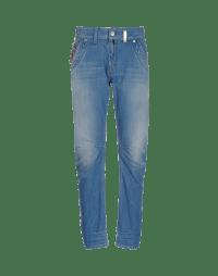 HAVOC: Light blue denim shaped leg jeans
