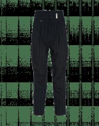 HASSLE: Pantaloni gessati con cuciture diagonali