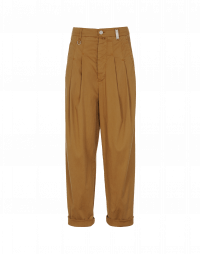 SKITTISH: Pantaloni color caramello con pieghe