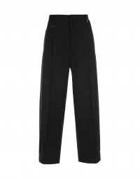 RESOLUTE: Tapered leg pant in black virgin wool
