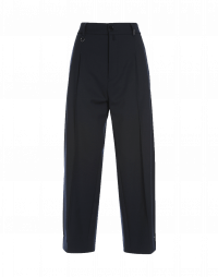 RESOLUTE: Tapered leg pant in navy virgin wool