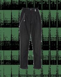COURAGE: Jeans neri con pieghe
