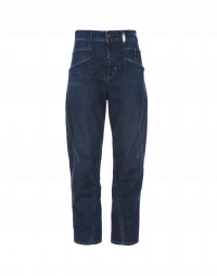 RESOUND: Easy jeans with criss-cross front leg seam