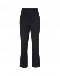 LOYAL: Flat front pants in navy virgin wool