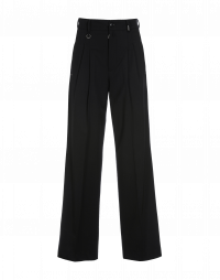 VALIDATE: Black wide leg pants with pleats