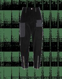 SCOUNDREL: Pantaloni ampi in velluto a coste nero con tasche