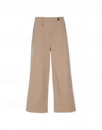 OPTIMUM:  Side buttoning pant in buff cotton