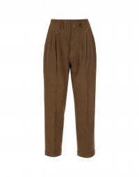 SNEEK: Black and Tan mini hounds tooth check pant