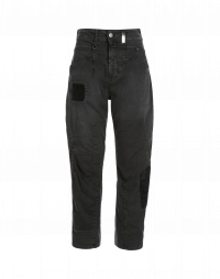 RESOUND: Grey twill multi-patch pants