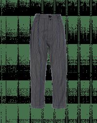 SNEEK: Pantaloni con pieghe in tessuto rigato