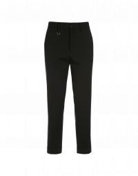 INTEND: Straight leg pant in black virgin wool