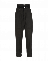 CLAMBER: Pantaloni grigi mini pied-de-poule con tasche